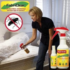 fabriclear is non toxic so you can use it everywhere